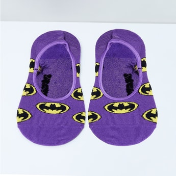 MAX Batman Patterned Footlets - 10-12Y
