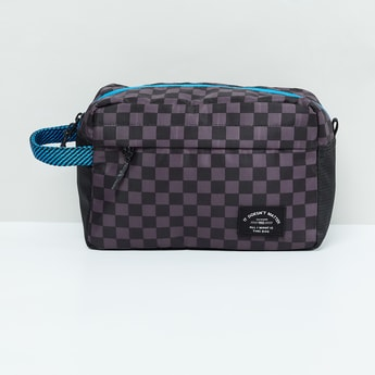 MAX Checked Zip-Closure Toiletry Pouch
