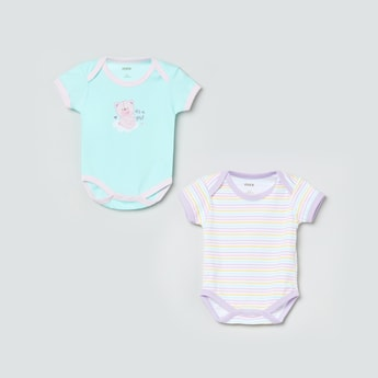 MAX Printed Knitted Rompers - Pack of 2