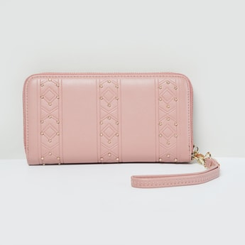 MAX Textured Studded Zip-Around Wallet