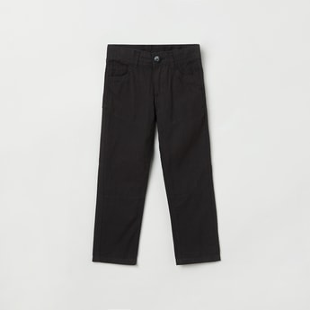 MAX Textured Trousers with Scoop Pockets