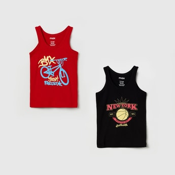 MAX Typographic Print Fashion Vests - Pack of 2 Pcs.