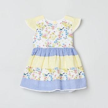 MAX Cutaway Sleeves Floral Print Fit & Flare Dress