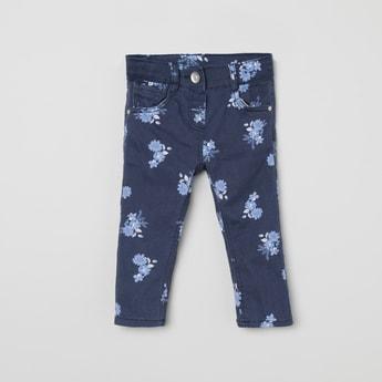 MAX Floral Print 5-Pocket Jeans