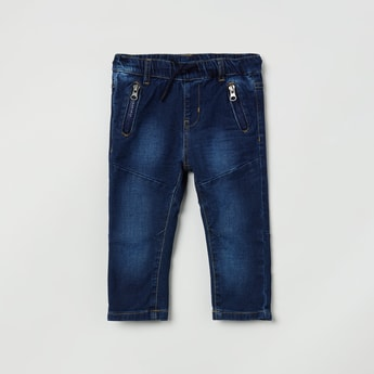 MAX Stonewashed Jeans with Drawstring Waistband