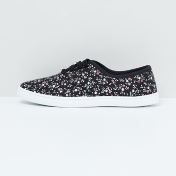 MAX Floral Print Lace-Up Shoes