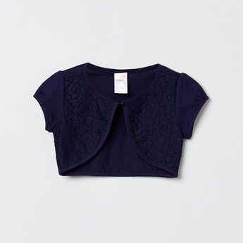 MAX Solid Cropped Shrug