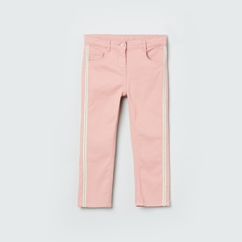 MAX Solid 5-Pocket Pants with contrast Taping
