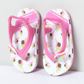 MAX Icecream Print Slingback Slippers