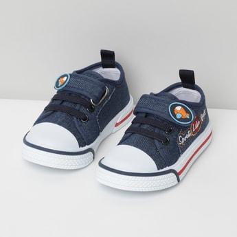 MAX Appliqued Velcro-Strap Shoes