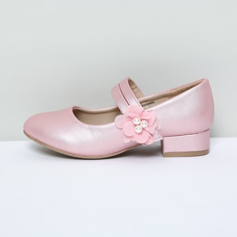 MAX Mary Janes with Beaded Floral Applique