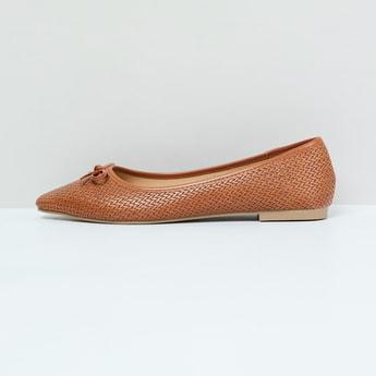 MAX Weave Textured Ballerina Flats