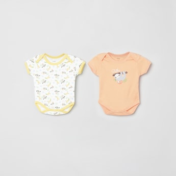 MAX Printed Knitted Rompers - Set of 2