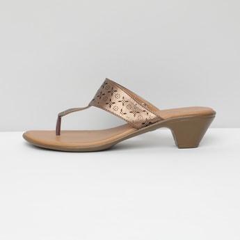 MAX Laser Cut T-strap Block Heels