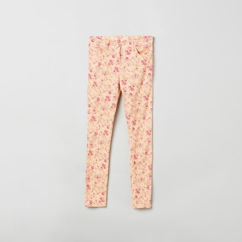 MAX Floral Print 5-Pocket Trousers