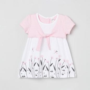 MAX Printed Shrug Layered T-shirt