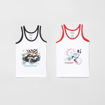MAX Printed Knitted Vest - Set of 2