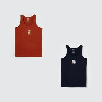 MAX Printed Knitted Vest - Pack of 2