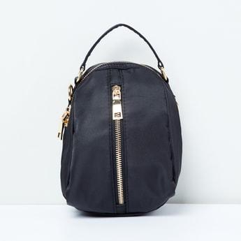 MAX Textured Sling Bag with Detachable Shoulder Strap
