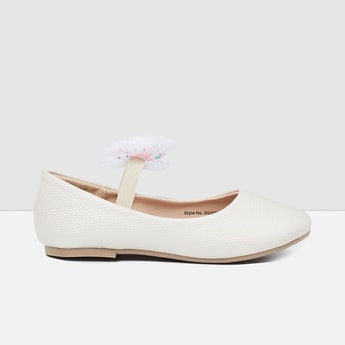 MAX Solid Bow-Detailed Ballerinas
