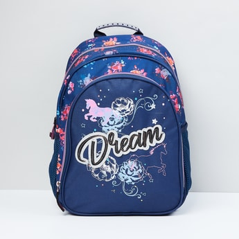 MAX Printed Single Compartment Backpack