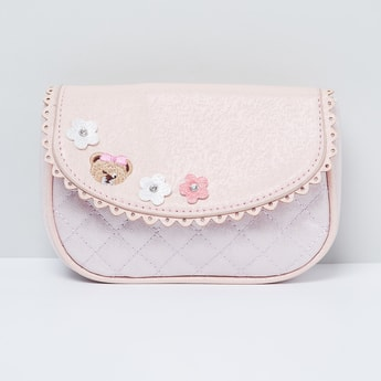 MAX Quilted Sling Bag with Applique