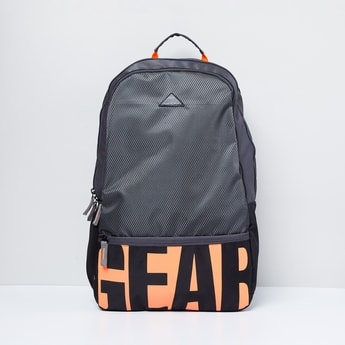 MAX Printed 3-Compartment Backpack