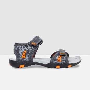 MAX Printed Floater Sandals with Velcro Closure