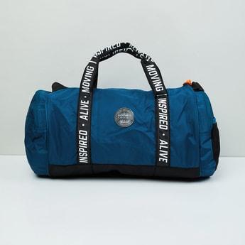 MAX Typographic Print Duffle Gym Bag