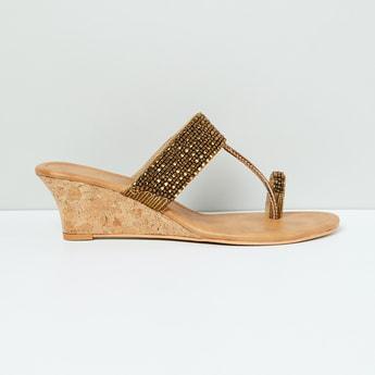 MAX Embellished Toe-Ring Wedges