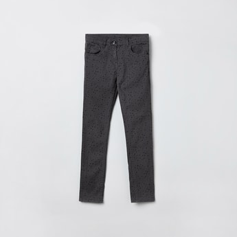 MAX Printed Full-Length Jeans