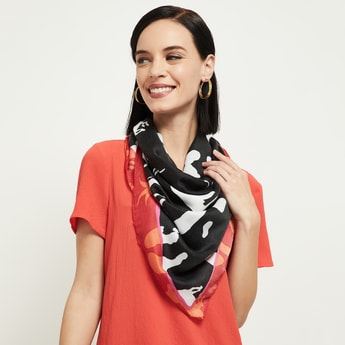MAX Printed Dual-Coloured Scarf