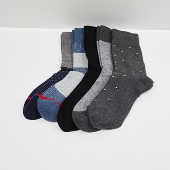 MAX Woven Design Socks- Set of 5 Pairs