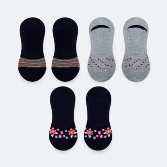 MAX Patterned No-Show Socks - Set of 3