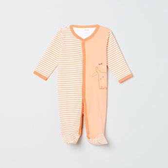 MAX Printed Striped Sleepsuit