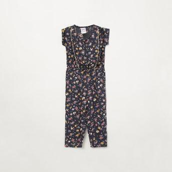 MAX Floral Print Cap Sleeves Jumpsuit