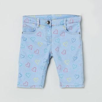 MAX Printed Denim Bermuda Shorts