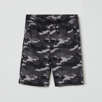 MAX Camouflage Print Elasticated Shorts