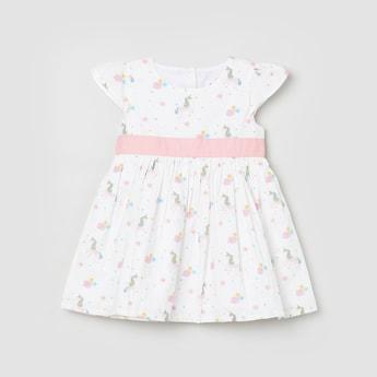 MAX Unicorn Print A-line Dress