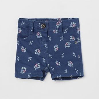 MAX Floral Printed Denim Shorts
