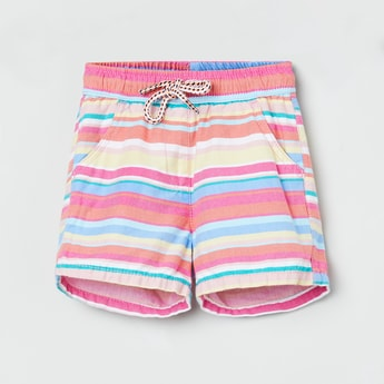 MAX Striped Shorts with Scoop Pockets