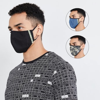 MAX Printed Face Mask- Set of 3