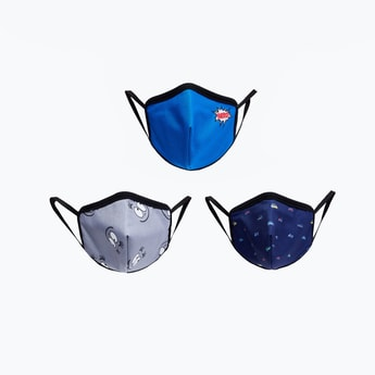 MAX Kids Printed Reusable Face Masks - Pack of 3. - 3-6 Y