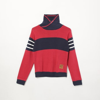 MAX Colourblocked High-Neck Sweater