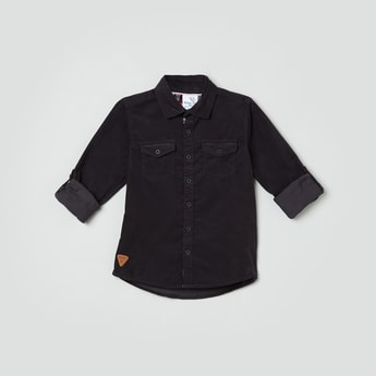 MAX Textured Full Sleeves Casual Shirt