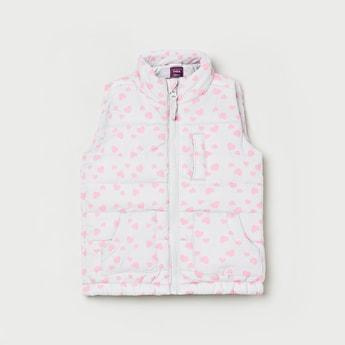 MAX Printed Sleeveless Jacket