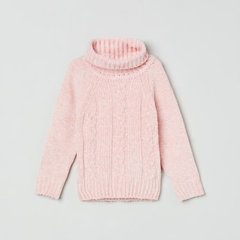 MAX Textured Cowl Neck Sweater