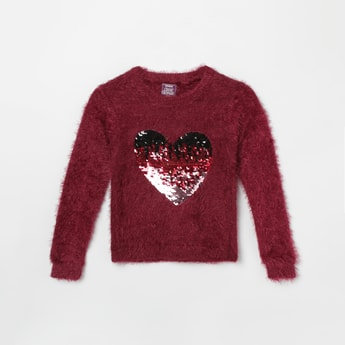 MAX  Full Sleeves Sweater With Sequin Detailing