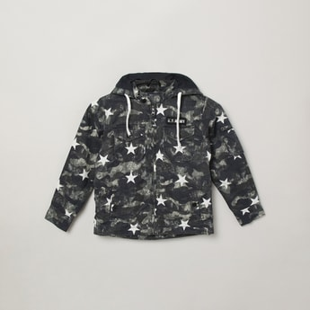 MAX Camouflage Printed Hooded Jacket