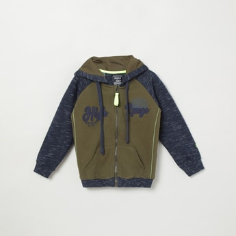 MAX Appliqued Hooded Jacket with Zip-Closure